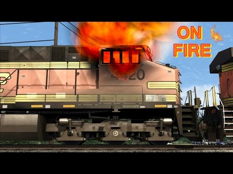 Thumbnail: Fire in the BNSF train cabin (Simulation)