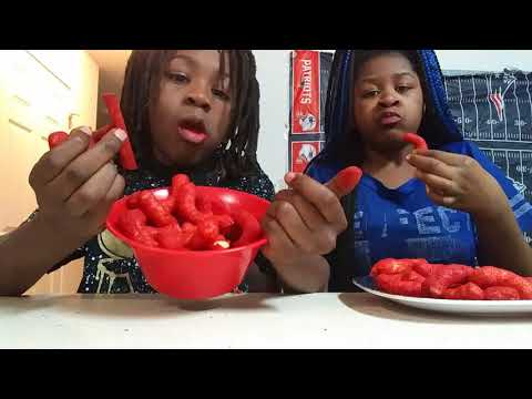 Hot Cheetos and Takis challenge with Aisha Nation