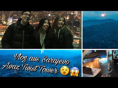 Hoch auf den Avaz Twist Tower! Sarajevo von OBEN 😍❤️