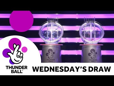 The National Lottery 'Thunderball' draw results from Wednesday 16th May 2018