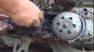 Ремонт скутера Honda Tact AF 24. Тюнінг варіатора до 80кмч