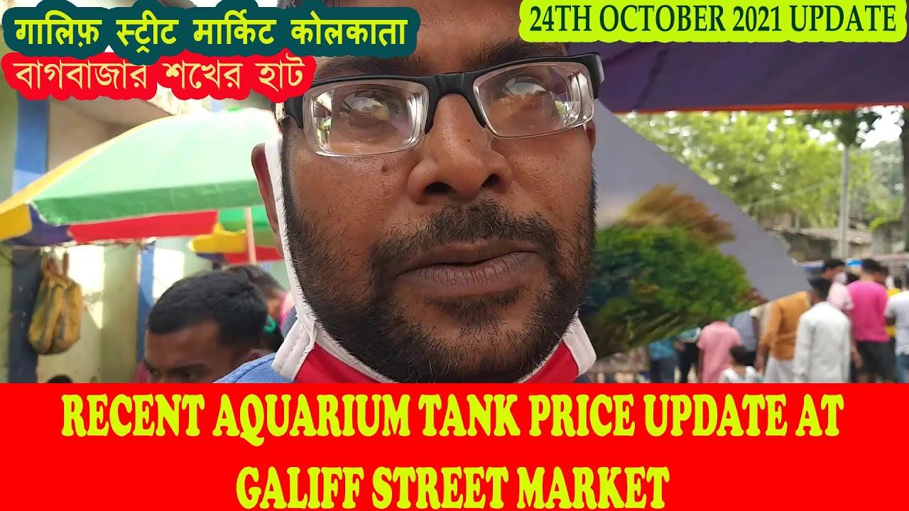 RECENT AQUARIUM TANK PRICE AT GALIFF STREET AQUARIUM FISH MARKET KOLKATA | 24TH OCTOBER 2021 VISIT