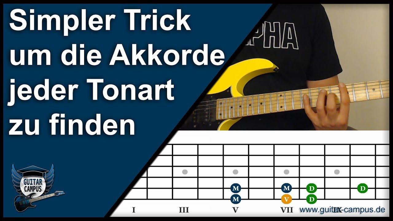simpler trick um die richtigen akkorde der jeweiligen tonart zu finden gitarre lernen youtube. Black Bedroom Furniture Sets. Home Design Ideas