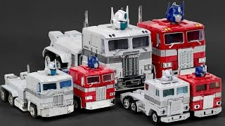 Transformers G1 Autobot Optimus Prime VS Ultra Magnus Convoy Truck 6 Vehicle Robot Car Toys
