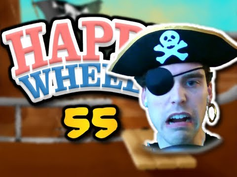 """SPECIAL PIRATE EDITION"" Happy Wheels Ep. 55 - Pirate Levels (HD)"