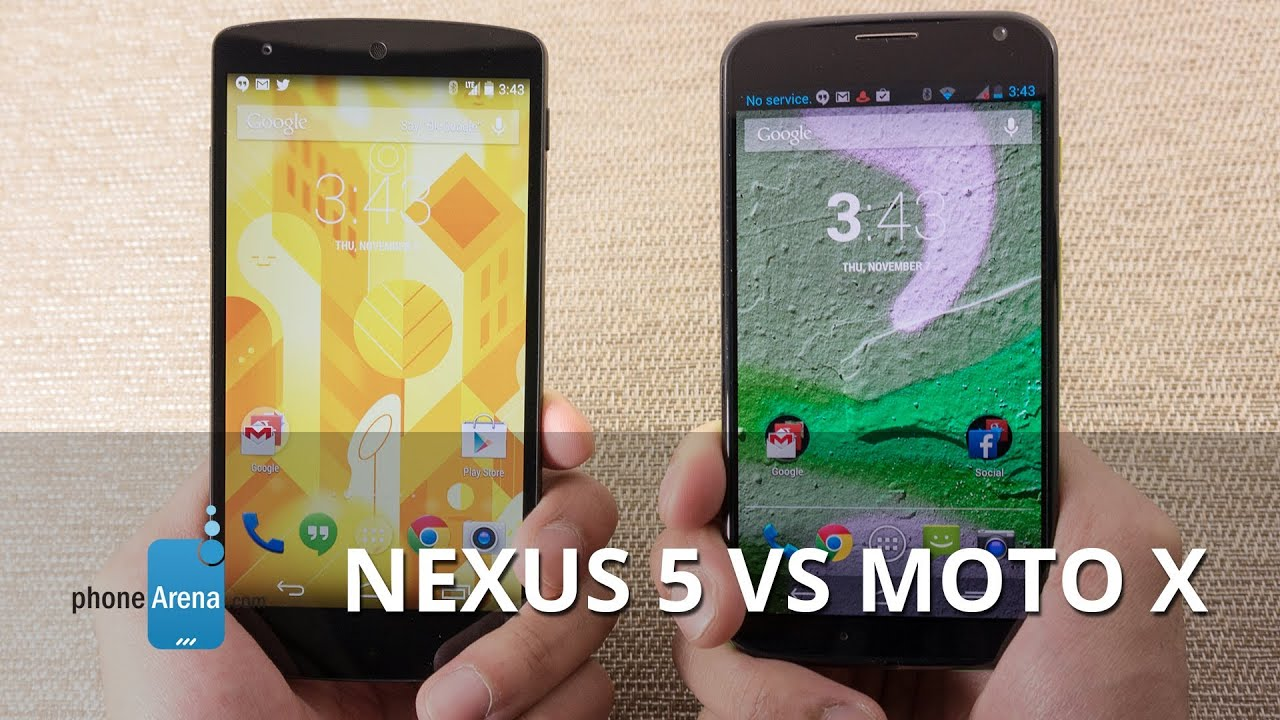 Google Nexus 5 vs Motorola Moto X