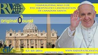 Thanksgiving Mass 2014.10.12