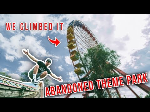 EXPLORING WORLDS BEST ABANDONED THEME PARK! - CLIMBED THE FE
