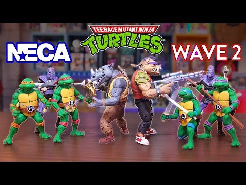 NECA | Bebop & Rocksteady + Teenage Mutant Ninja Turtles Figures | TMNT Review!