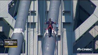 World's most dangerous jobs: Bridge painter