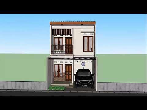 desain rumah minimalis ukuran bangunan 5x8 di lahan 5x10