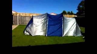 Time Lapse Erecting 8 Man Tent