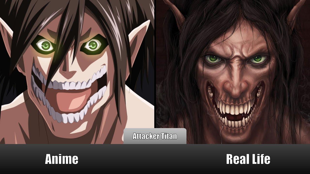 eren titan real life Attack On Titan Real Life Vs Anime Titans Comparison
