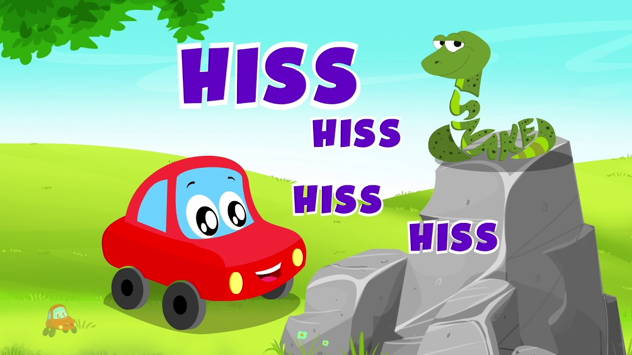 Animal Sound Song | Little Red Car | Visual Words For Kids | Nursery Rhyme | Five Little Monkeys