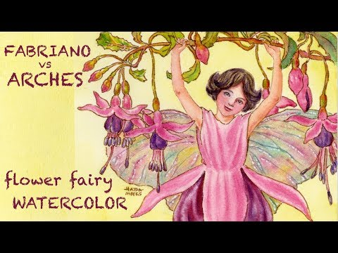 Fabriano vs Arches Paper, Flower Fairy Study!
