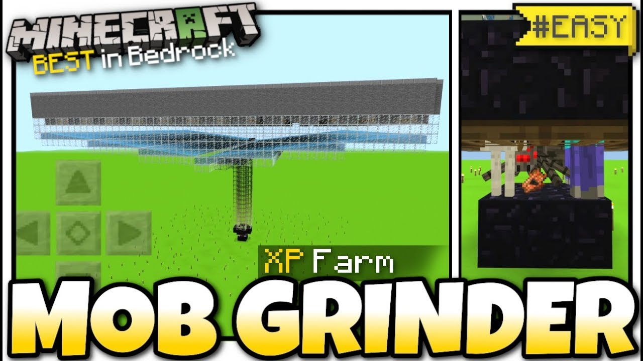 Minecraft Bedrock - AUTOMATIC MOB & XP FARM ⚔️ Tutorial ⚔️ PS8 , MCPE ,  Xbox , Windows & Switch
