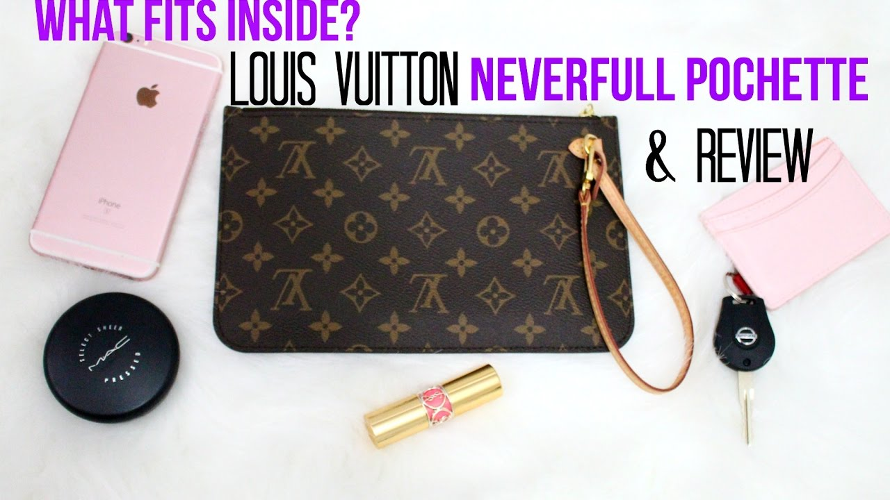 LOUIS VUITTON Pochette Pouch Review WHATS INSIDE  945224b687393