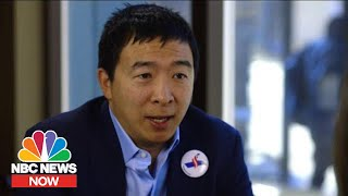 Spending The Day On The Trail With Andrew Yang   NBC News Now