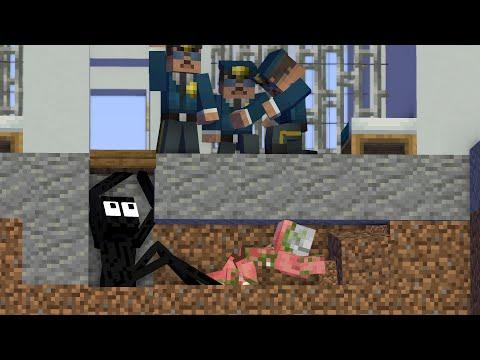 Monster School: PRISON ESCAPE 2 - Minecraft Animation