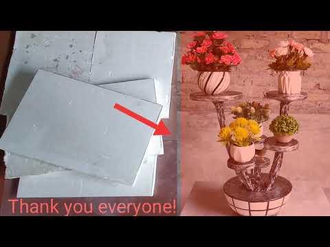 hqdefault - Decorative concrete - DIY flower shelves at home - decorate living room and bedroom - new ideas. - Concrete Floor Pros