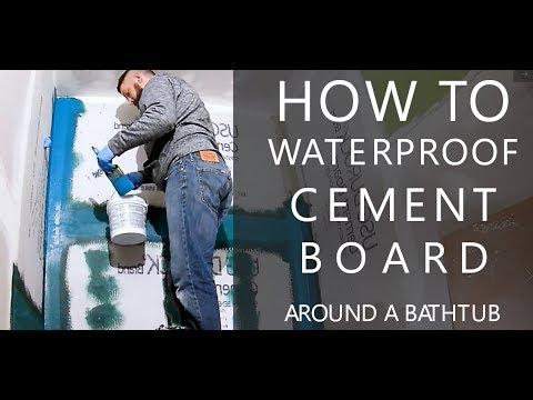 How to Waterproof Cement Board
