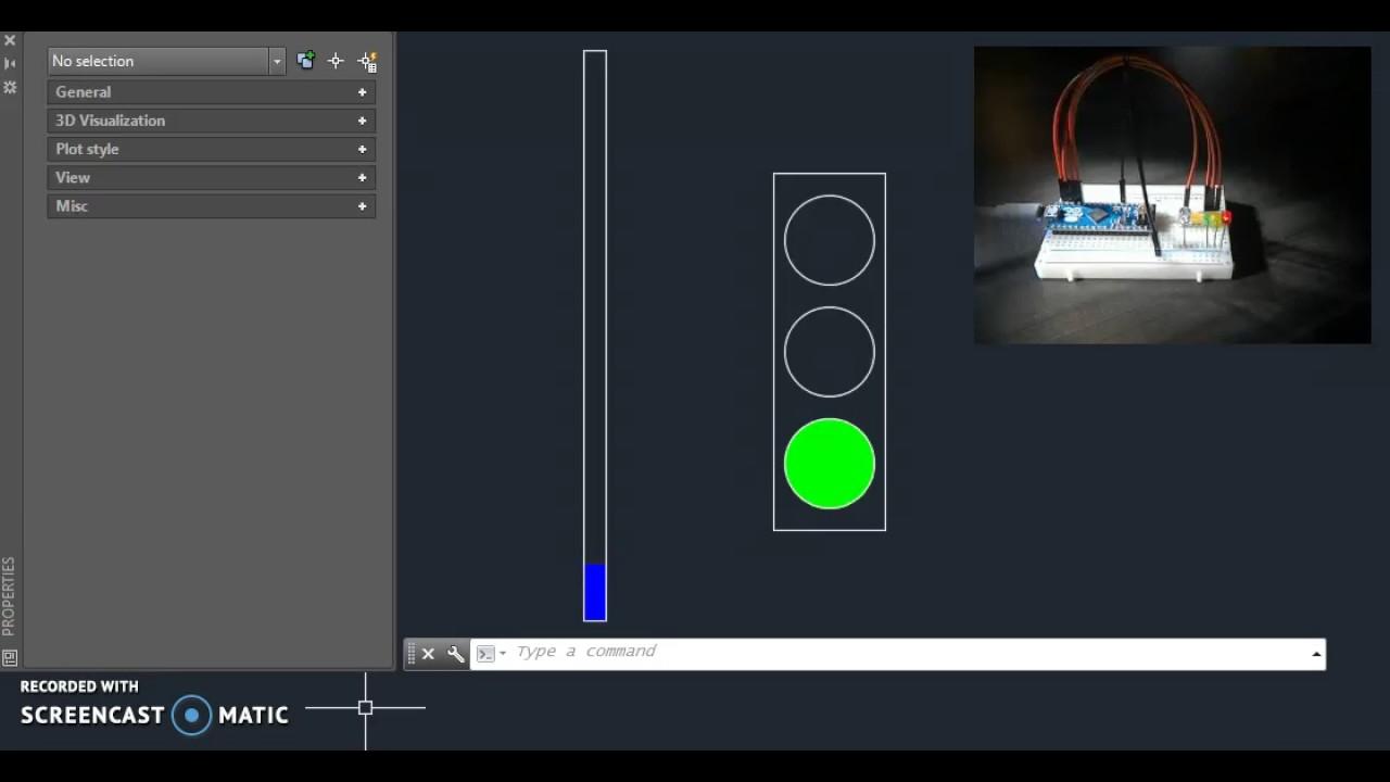 AutoCAD + Arduino LED Control