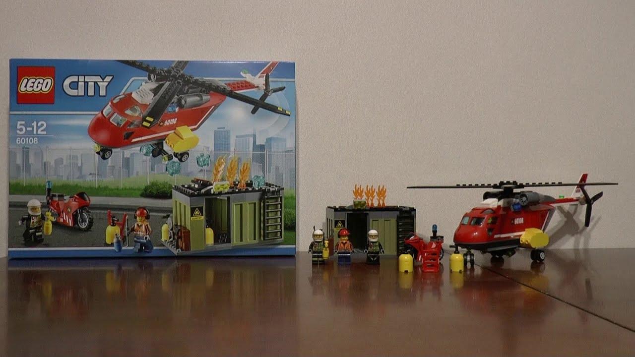 Lego City 60108 Helikopter Strażacki Youtube