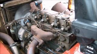 Perkins 4 cylinder diesel starten.