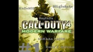 call of duty 4 modern 1.bölüm GEMİ BATIYOR
