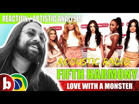 FIFTH HARMONY! Love With A Monster (acoustic) - Reaction (SUBS)