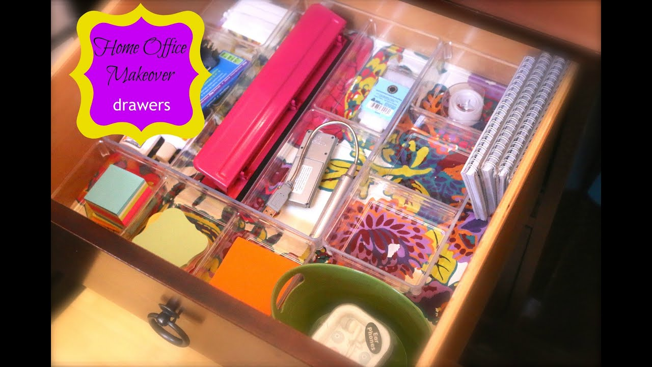 home office drawers. My Decluttered \u0026 Organized Home Office Drawers {how To Organize} - YouTube S