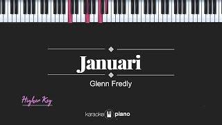 Download Mp3 Januari  Higher Key / Female Key  Glenn Fredly  Karaoke Piano