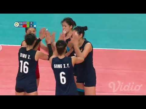 Volley Ball Womens Final Asian Games 2018 CHINA (Won) vs THAILAND