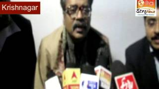 Gazal maestro Hariharan speaks to media at First Nadia Mahotsav in Krishnagar on 31 January, 2014