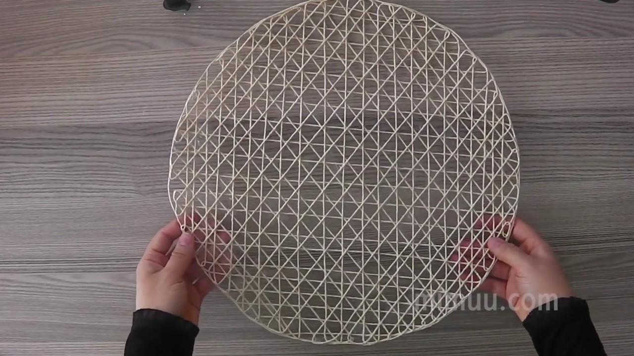 Yelpaze Modeli Kağıt İple Çanta Yapılışı Videolu Anlatımlı