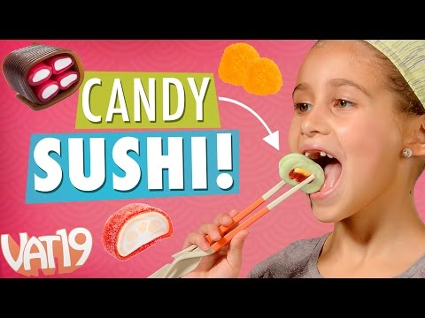 Sushi Platter Made From Candy