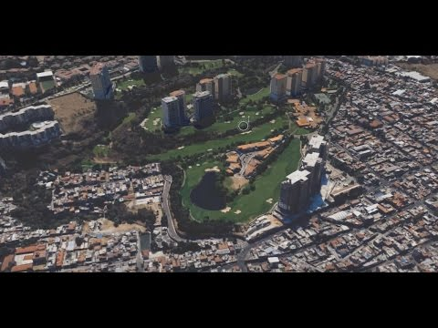 Mexico City in 3D Google Earth