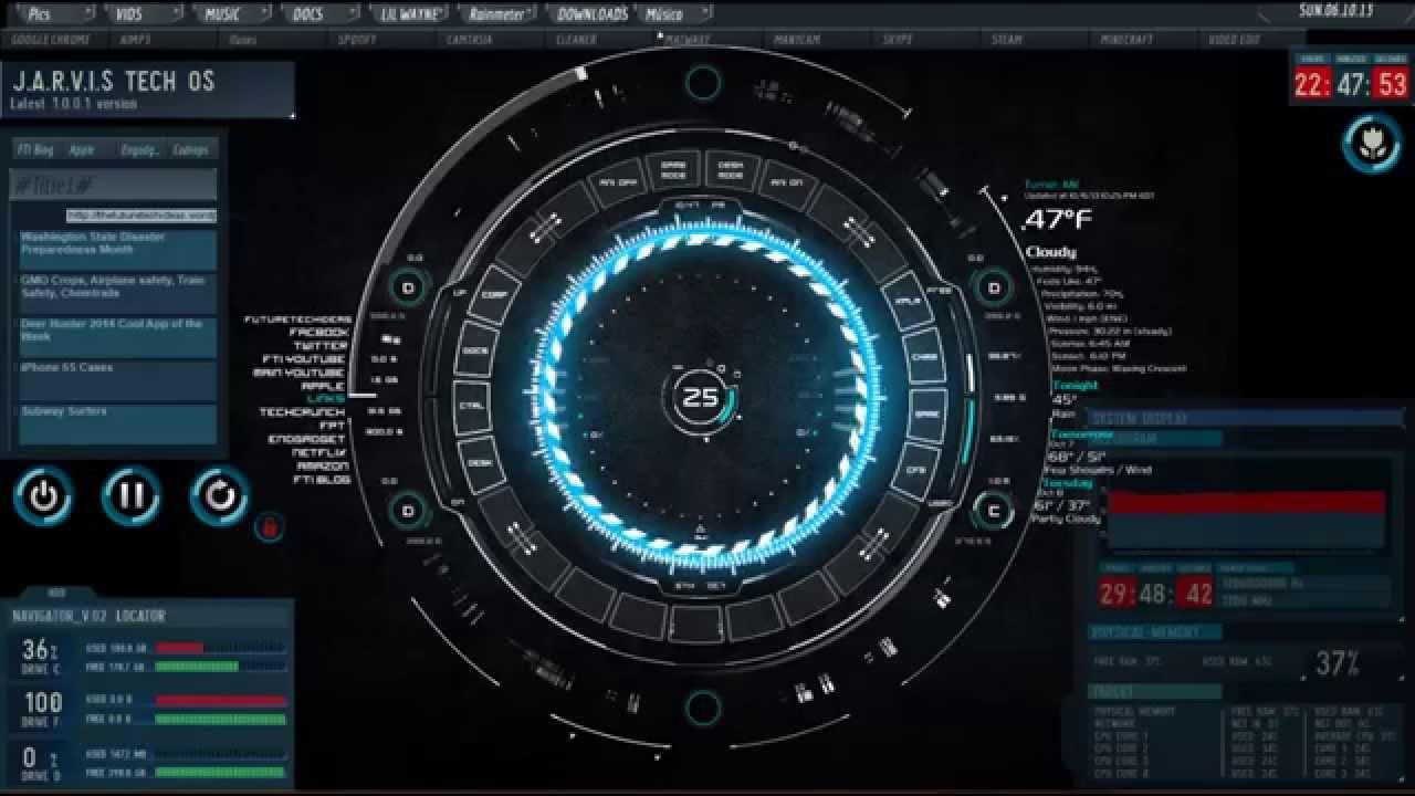 insane arc reactor desktop theme youtube