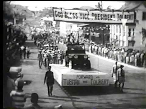 President William VS Tubman of Liberia 1956 Inauguration part 4 of 4