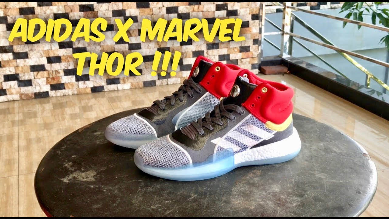 release info on superior quality great quality SEPATU ADIDAS X MARVEL (THOR) MARQUEE BOOST - YouTube