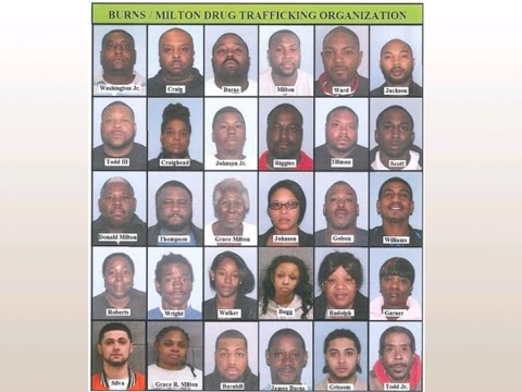 34 family members arrested in drug bust