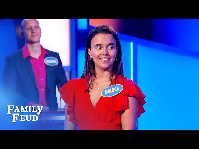 Bianca needs a big score for $20,000! | Family Feud