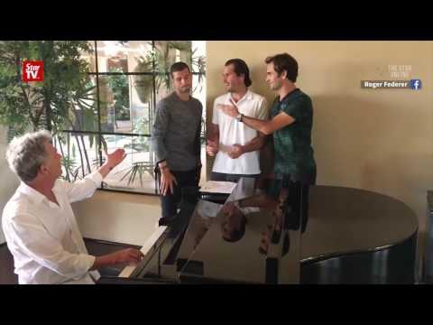 "Roger Federer, David Foster and the ""Backhand Boys"" go viral"
