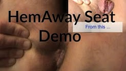 HemAway Seat Review, Tutorial and Live Demo - Prolapsed Hemorrhoids Treatment