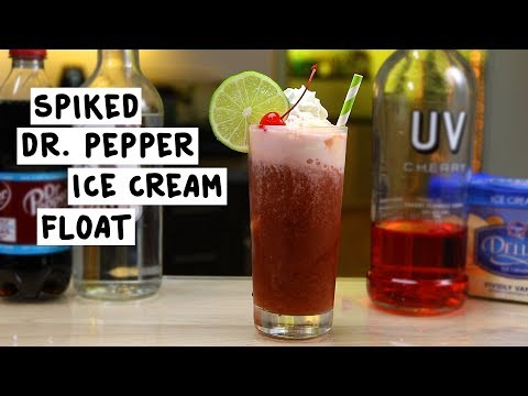 Spiked Dr  Pepper Ice Cream Float