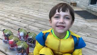 Zack play Hide and Seek with Ninja Toys