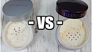 Battle of the LOOSE POWDERS | CoverFX vs. Laura Mercier