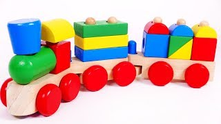 Train Puzzle and Ice Cream Playset Toys Learn Colors for Kids
