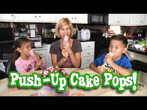 MommyTube Makes PUSH-UP CAKE POPS