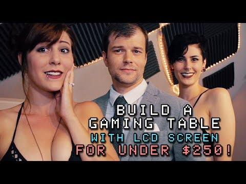 How To Build A Gaming Table (With LCD Screen) For Under $250!